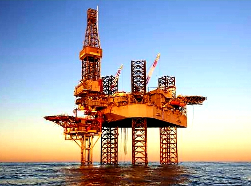 Large Offshore Oil Platform