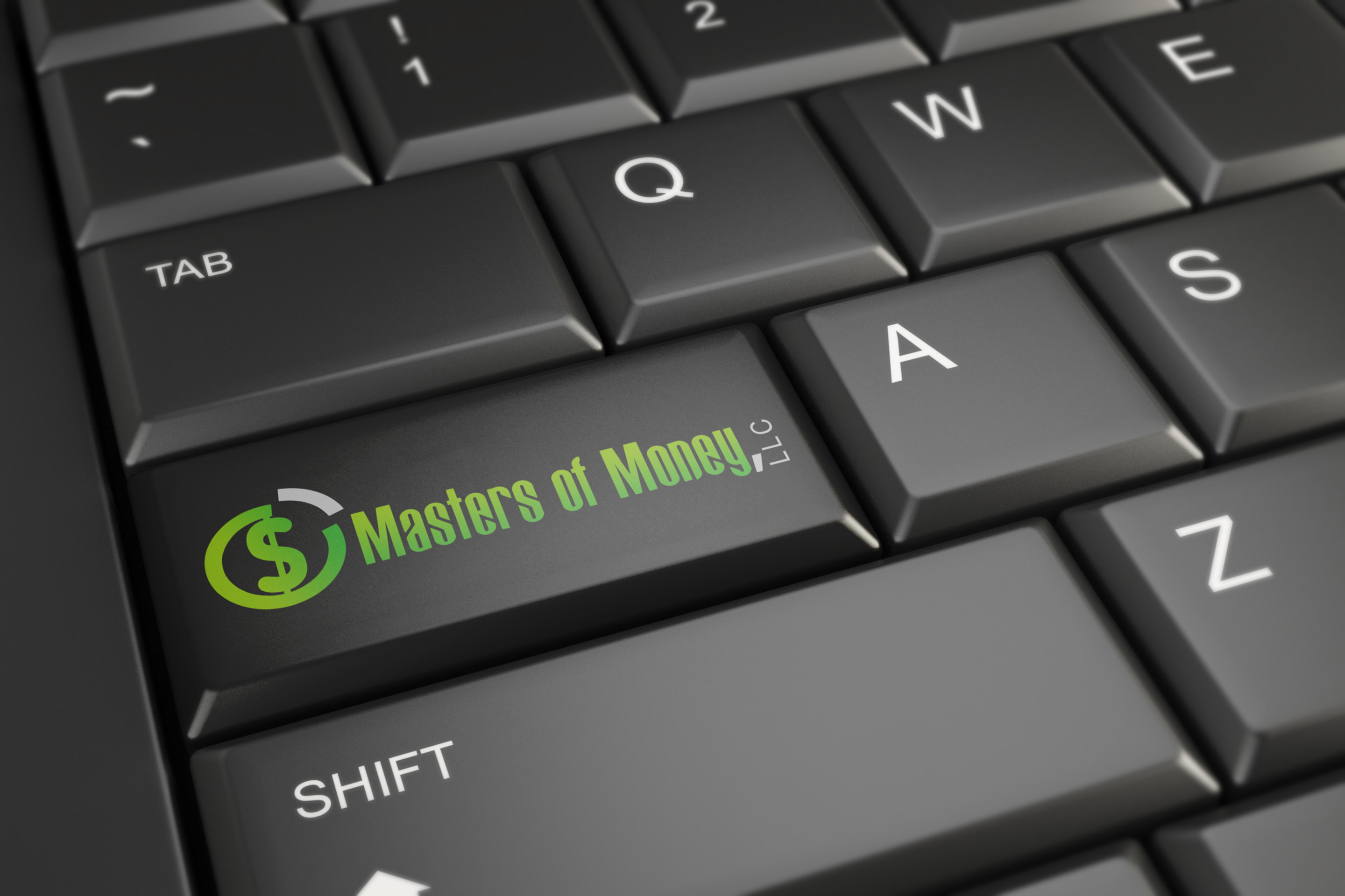 Masters of Money LLC Computer Key Logo Picture