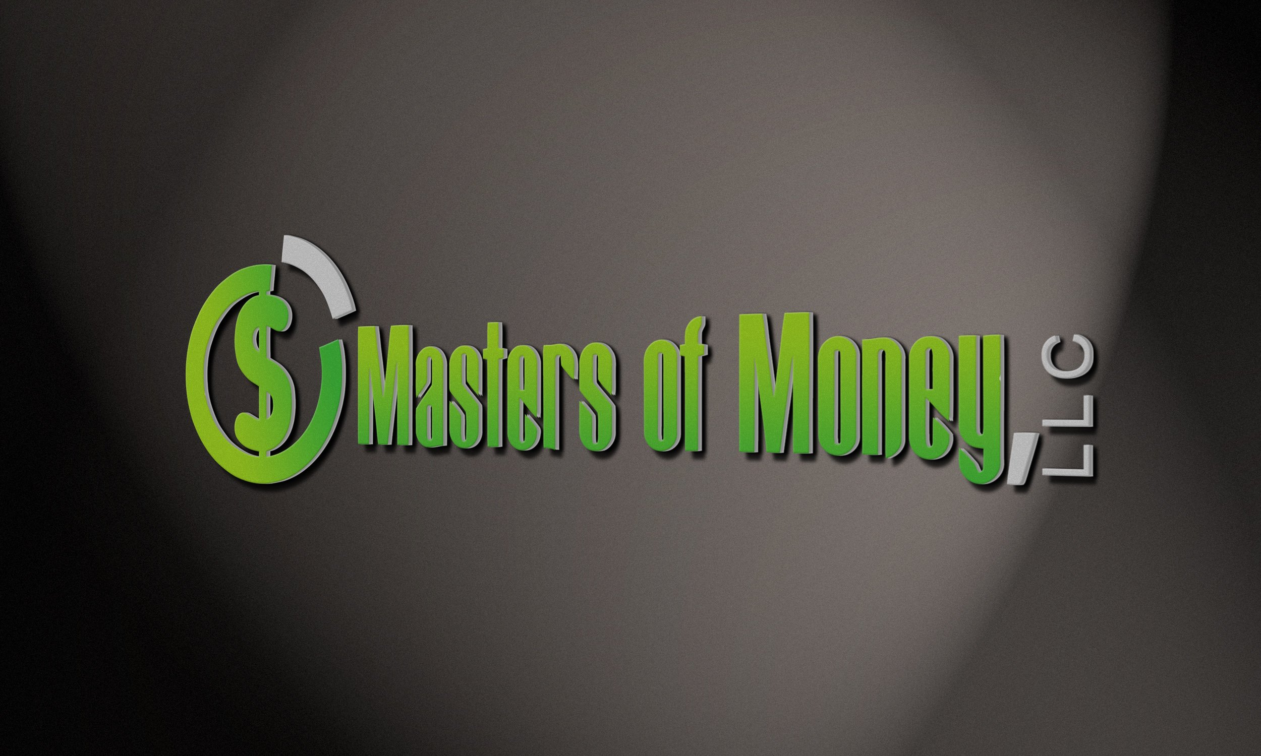 Masters of Money LLC Logo At An Angle Image