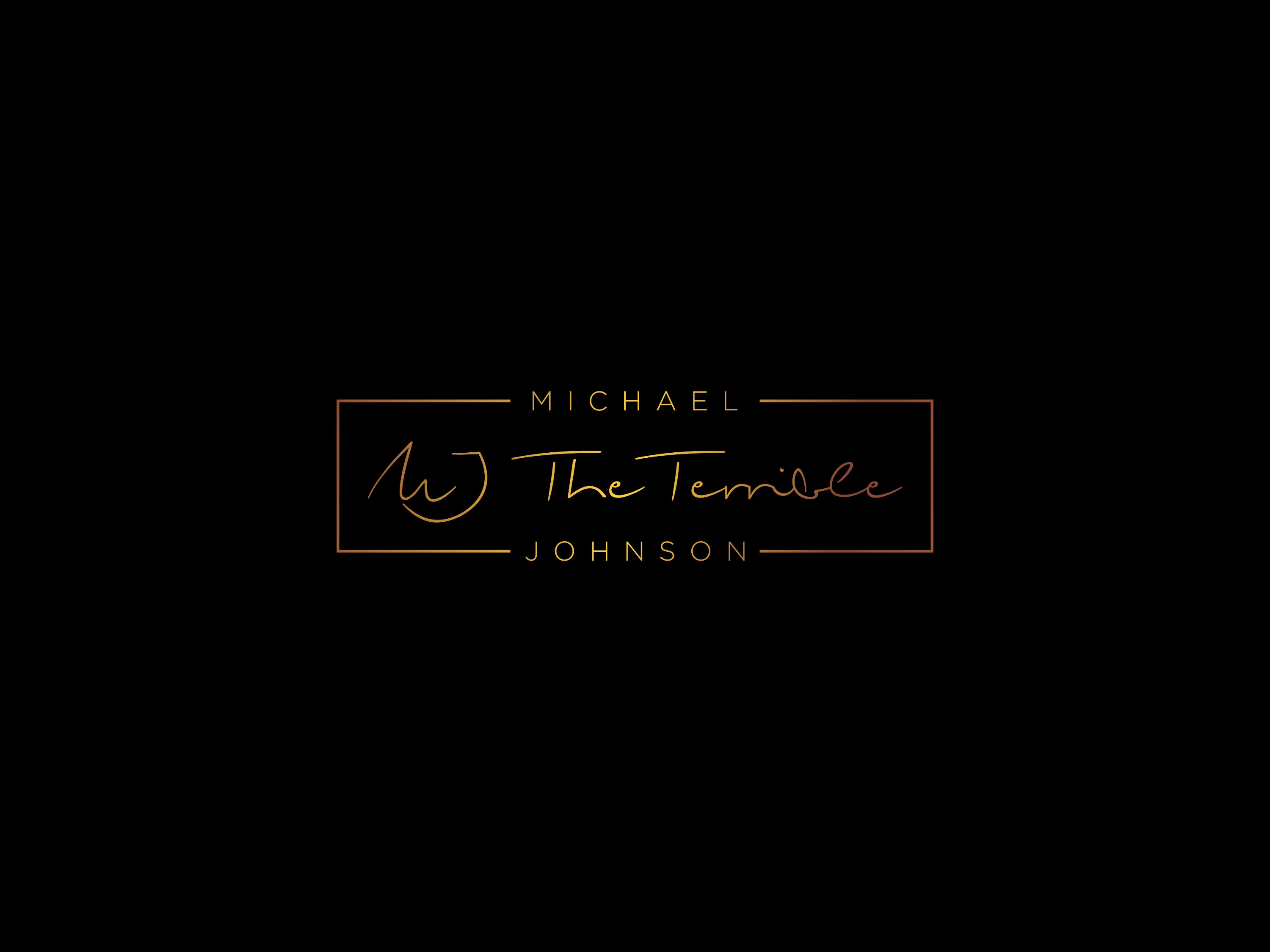 "Michael ""MJ The Terrible"" Johnson Black & Gold Logo"