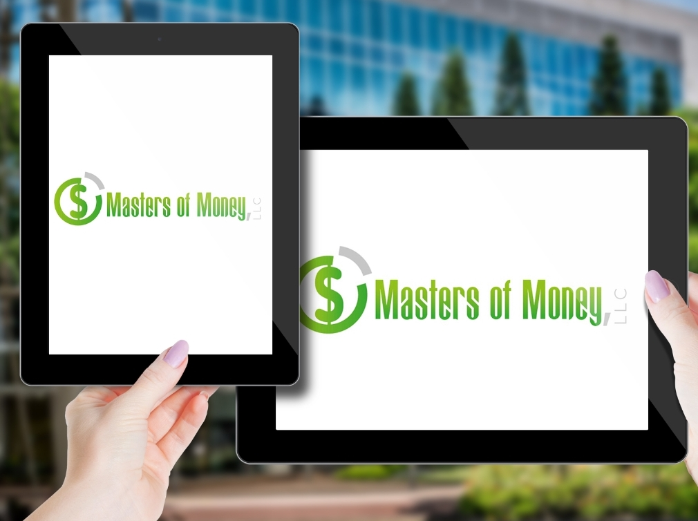 Masters of Money LLC Logo Screensaver On Vertical & Horizontal Ipad Screens
