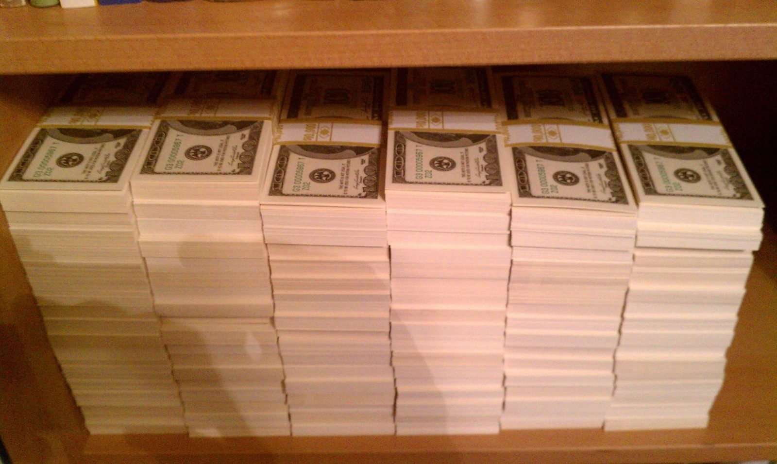 One Million Dollars In One Hundred Dollar Bills