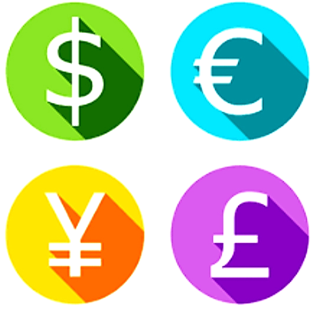 4 Currency Forex Graphic