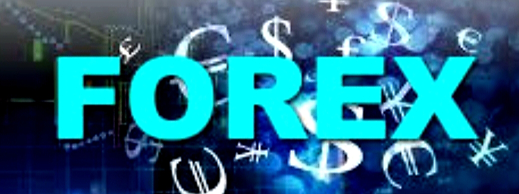 Blue Forex Graphic With Black Background