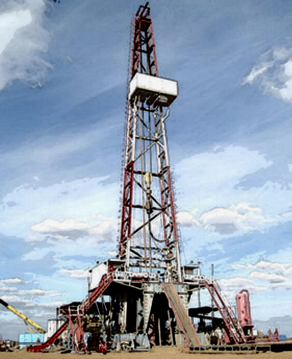 Towering Oil & Gas Drilling Rig Cartoon Image