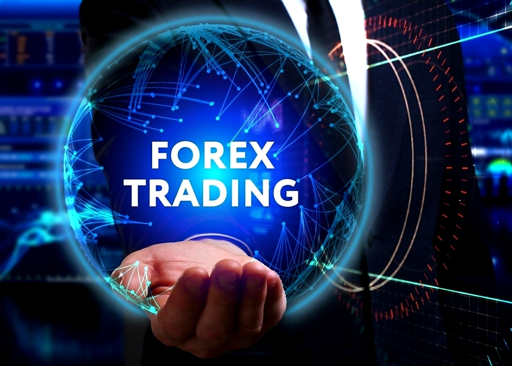 WHOLE WORLD IN HAND FOREX TRADING GRAPHIC