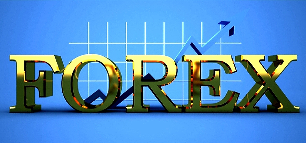Blue & Gold Forex Graphic