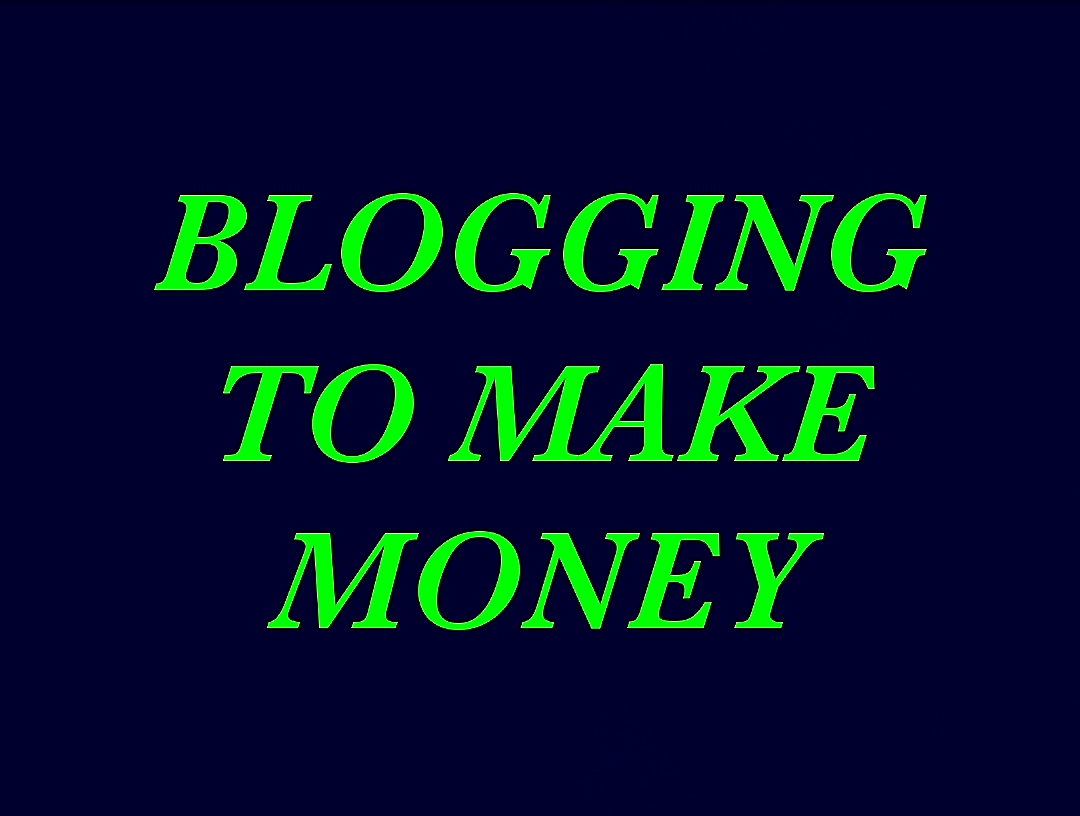 BLOGGING TO MAKE MONEY Blue & Green Graphic