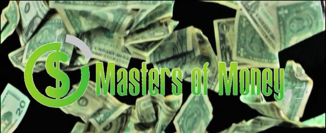 Masters of Money LLC Falling Money Graphic