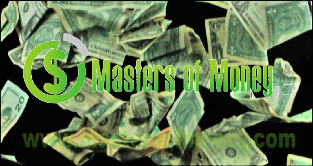 Masters of Money LLC Raining Money Logo