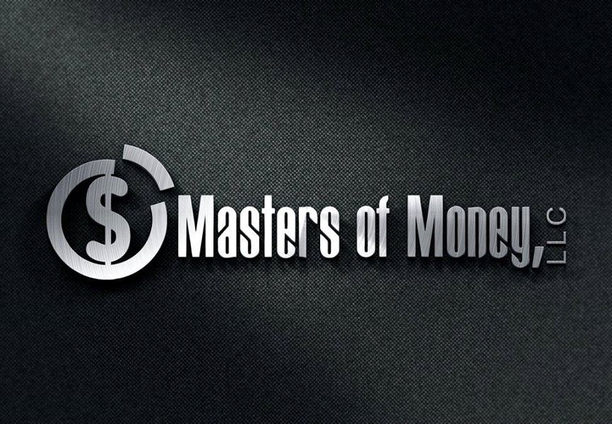 Masters of Money LLC Black & Silver Logo