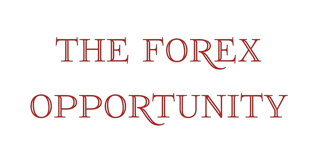THE FOREX OPPORTUNITY Red & White Graphic