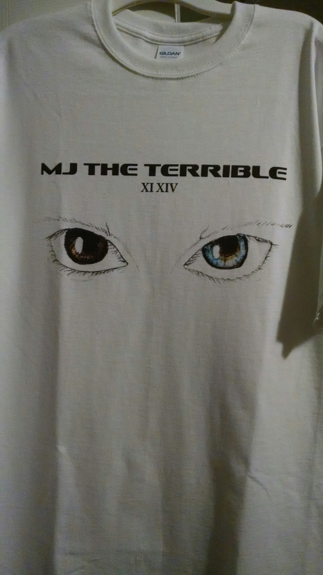 MJ The Terrible 2 MJ's 1114 One Brown Eye & One Blue Eye T-shirt